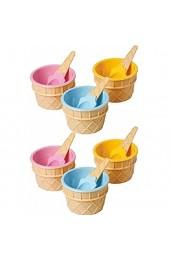 Gino Gelati 6 x Eisbecher mit Eislöffel - Becher Eisschalen Joghurtbecher