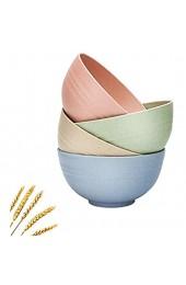 4 Stück Umweltfreundliche Müslischale Salatschüssel Bowl Weizenstrohschalen unzerbrechlich Müslischalen lebensmittelecht leicht wiederverwendbar Geschirr Obst Snack Behälter gesund