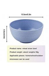 5 unzerbrechliche Müslischalen 13 5 cm leichte Weizenstroh-Schüssel für Kinder Kleinkinder und Erwachsene lebensmittelechte Schüsseln Geschirrspüler(grün)