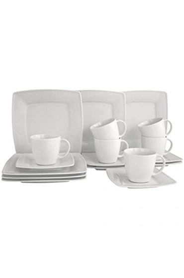 CreaTable 12207 Serie Victoria weiß Geschirrset Kaffeeservice 18 teilig