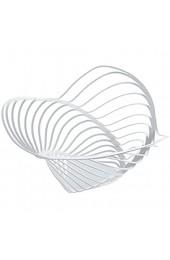 Alessi ACO04/16 W Trinity Zitruskorb aus Stahl epoxidharzlackiert Durchmesser 33 0 cm weiß