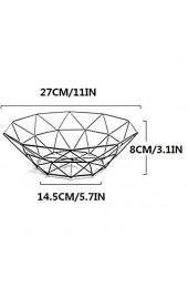 Magiin Moderner Obstkorb aus schwarzem Metall dekorative Obstschale Metall Obst Aufbewahrung