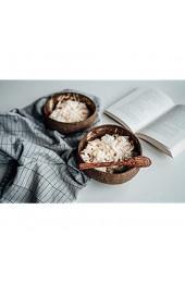 onvacay Coconut Bowl Kokosnussschale Set 100% Vegan Upcycling Natur Recycling Kokosnuss Schale - Smoothie Buddha ACAI Porridge Salad Bowl Frühstück Dekoration