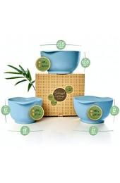 bambuswald© ökologische Rührschüssel (3 Stück im Set) - große Schüsseln für die Küche (2L   2 7L   3 2L) - praktischer Ausgießer & Halterand : Salatschüssel Schüsselset Servierschüssel Behälter