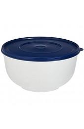 Emsa 2143501200 Hefeteigschüssel mit Deckel 5 Liter Weiß/Blau Superline