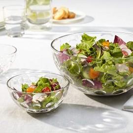Leonardo Glas-Schale Cucina Optic runde Schale aus Glas im frischen Design Deko-Schale mit runden Akzenten 21 5-cm 066336