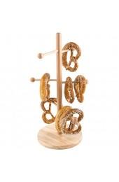 APS Brezel- oder Wurstständer - Verkaufsständer Buchen-Holz versiegelt bestens geeignet für die Präsentation von Brezeln Würstchen etc. Fuß Ø 22 cm Höhe 50cm