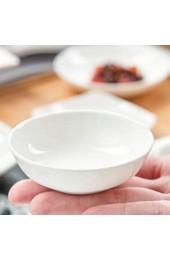 Cabilock 4 Stück Keramik Saucenschälchen Stapelbar Schälchen Porzellan Mini Servierschalen Vorspeise Dip Schüsseln Dipschalen Dessertschalen für Snack Sushi Sojasauce 7 8x7 8 cm