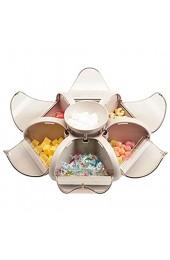 Snack-Teller Servierschalen-Set Mit Deckel Blumenform Snack Aufbewahrungsbox Mit 7 Schalen Ideal Für Frühstück Antipasti Platte Snacks & Dips Süßigkeiten Snackschale Servier Set Box