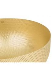 Alessi UTA17/21BR Schale rund - Messing mit Reliefdekor.