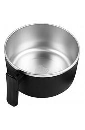 Cabilock Mikrowellensuppenbecher 1000Ml - Suppenbehälter aus Edelstahl Suppenschalen mit Griffen (Kein Geschirr Schwarz)
