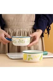 JNN Set mit 4 Suppentassen mit Griffen 15 Unzen französische Zwiebelschale Porzellan-Servier-Suppenschüssel Mikrowellen-Safe für Suppe Chili Rindfleischeintopf