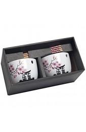 Pamai Pai® 2er Set Soba Bowl Japanische Blüte Suppenschalen für Nudelsuppe Kirschblüte Suppen Schale