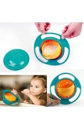 Süße Baby-Drehschale 360 ° drehbare auslaufsichere Schüssel Gyroskopische Schüssel mit Deckel