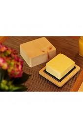 Dekobox Butterdose aus Zirbenholz inkl. Schieferplatte - Made in Tirol