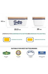 SveBake Butterdose - Emaille Butter Boot mit Deckel weiß | Multi-Funktion Butterschale für 1 Stück Butter Butter me up