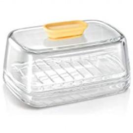 Tescoma 630686 Delicia Butterdose aus Glas transparent