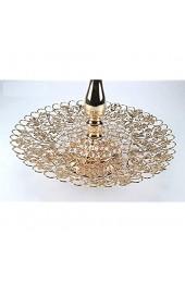 bador Wunderschönen Etagere Stilvoll Edel und Elegant in Gold mit Kristall Steine 31 5 cm/Höhe 45 5 cm