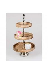 formano Etagere 538772 54 cm Alu Mango-Holz Aluminium Deko-Etagere Deko-Idee für Jede Jahreszeit Geschenk-Idee