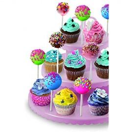 Ibili 827600 Etagere ideal für Cupcakes / Cakepops Kunststoff Löcher für 48 Stäbe