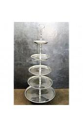 Wonderschöne große Etagere Tischdeko Tablet Silber 5 Etagen aus poliertem Aluminium. Höhe 100cm Breite unterster Teller 40cm.