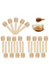 CUNYA Honigstäbchen Mini-Honigkamm 8 cm Holz Honiglöffel Honigspender für Honiggläser Honig Hochzeit Party Gender Reveal Party-Zubehör 20 Stück