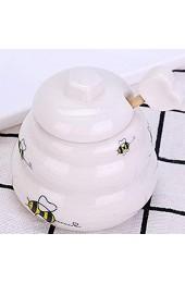 fllyingu Keramik Honigtopf Mit Schöpflöffel Keramik Bienenstock Honigtopf Kind Honigtopf - Geschenk Für Einen Freund