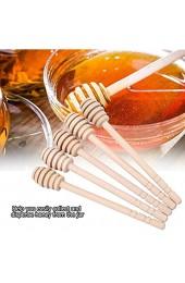 Holzrührstab Holzhonig-Tropfer lebensmittelechtes ungiftiges sicheres Karamell zum Nieseln von Honig Blackstrap Melasse Ahornsirup(16cm)
