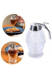 Honigspender 200 ml Glas Honig/Sirup/Saft Griff Ausgießerbehälter Flasche Honigglas Sirup Flasche transparenter Halter Tasse
