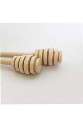 NIDONE Rührholz Honig Dipper Holzhoniglöffel Stock- Mixstab Küchenwerkzeug