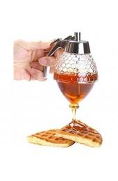 OFKPO Honig Spender Tragbar Acryl Honig Jar Container Honig Spender(200ml)