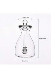 Richolyn Honig Topf Glas handgemachte Honig Glas mit Schöpflöffel und Deckel Abdeckung für zu Hause Küche 500ml