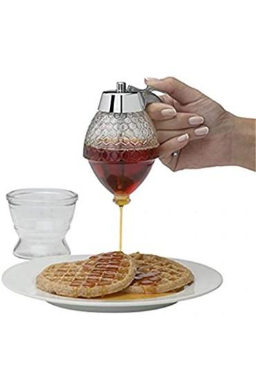 Tabpole Sirup Saftspender mit Ständer Transparent Bienentropfspender Honigspender Glas Sirupflasche