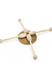 U/K Holz Rührstab Honig Bambus Löffel Rührstab für Dicke Sirupsaucen Kaffee Milch Tee Marmelade Rührgerät 2 Stück Bequem und praktisch