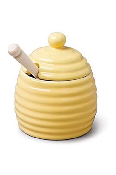 WM Bartleet & Sons Honigtopf aus Porzellan gelb