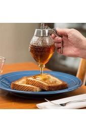 Wosune Vintage-Behälter Acrylmaterial in Lebensmittelqualität Schmecken Sie den köstlichen Honig jederzeit ohne Ihre Hände schmutzig zu Machen. Sirup-Topf auf Toast heißes Müsli