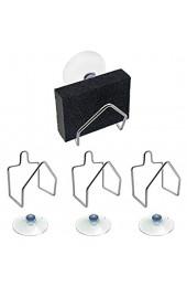 EQLEF Schwammhalter Küche Edelstahl-Schwammhalter Firm Sucker Bad Schwammhalter für Geschirrtuch Spülenbezug Seifenpackung mit 4 Stück
