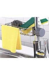 shozon Schwammhalter Edelstahl Küche Spülbecken-Organizer Aufbewahrungsregal Wasserhahn Ablauf Rack für Seife Schwämme Geschirrschwamm (7 48 Zoll)