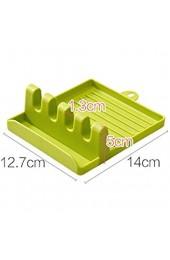 Silikon-Utensilienablage mit Abtropfpad für mehrere Utensilien 2 Stück BPA-frei hitzebeständig Löffelablage rutschfest Besteck-Organizer für Theke Multifunktionsutensilien Küche (grün)