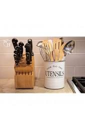 Walford Home Küchenutensilienhalter Bauernhaus-Dekoration für das Zuhause gepolsterter Boden weißer Utensilienhalter