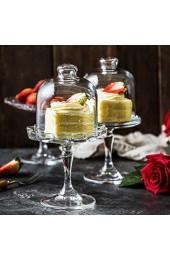 BESTonZON 1 Set Kuchen Glasglocke Glas Käseglocke Kuchenständer Tortenplatte Haube Glaskuppel Torten Glashaube Käseplatte Tortenglocke Lebensmittel Abdeckung Deckel für Patisserie Essen Cover
