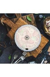 BESTonZON Rauchen Cloche Kuppel Abdeckung Glas Lebensmittel Abdeckung Deckel für Teller Schalen Gläser Rauchen Infuser Zubehör Kuchen Dessert Abdeckung Kuppel Schutz L