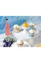 DUDDP Glasglocke Glasserver-Kuchen-Platte mit Deckel Bar-Frucht-Steak-Tablett Keramik-Scheibe Glas-Staubkuppel Sushi-Dessert-Konservierungs-Abdeckung Vier Größen Kuchenständer