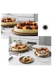 Kreative Einfachheit Kuchenplatte mit Glasdeckel Holzdessert Obsttablett Küche Donut Salat Kuppel Glas Lebensmittelkonservierung Abdeckung Chip \U0026 Amp; Dip Server lsxysp 10 Zoll 10 Zoll