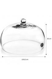 LACOR 61817 | Dunstabzugshaube für Magic Smoker | Glasdeckel mit Ventil | ermöglicht das Eindringen Dampf und Aromen zum Räuchern und Aromatisieren von Lebensmitteln | Ø 25 x 14 cm Glas