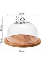 LYLSXY Geschirr Massivholzfach Und Transparent Staubfestes Glaskuchen Brot Requisiten Display- Und Dekorationsfach Für Teller/Serviergerichte 29 cm