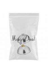 MagiDeal 2 Stück Edelstahl Food Cover Cloche Teller mit Gewölbtem Deckel Dish Small