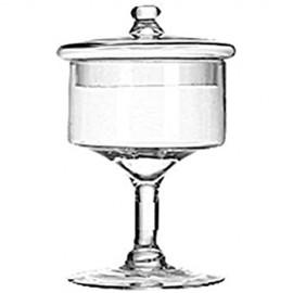 MUMUMI Geschirrtuchkuchen Glasfach Heimkabinettanzeige Glasabdeckung Tee Caddy Candy Jar Multifunktionale Speicher Glas Glas Für Teller/Serviergerichte 16 * 25 Cm 16 * 25 Cm.