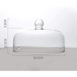 Tortenplatte Fruchtplatte Kuchen Kuppelglas Snack-Cover-Gebäck-Dessert-Küchenkuppel-Staubabdeckung Lebensmittelkonservierungsabdeckungdurchmesser 8.6-28.5cm Salatplatte LQHZWYC
