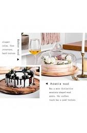 Tortenplatte Geschirrsteakplatte 8/10/11 Zoll Kuchenkasten drehbarer hölzerner Dessert-Tablett Home Kuchen Maker Klarglas Salat Käse Dome Chip & Dip Server Salatplatte LQHZWYC